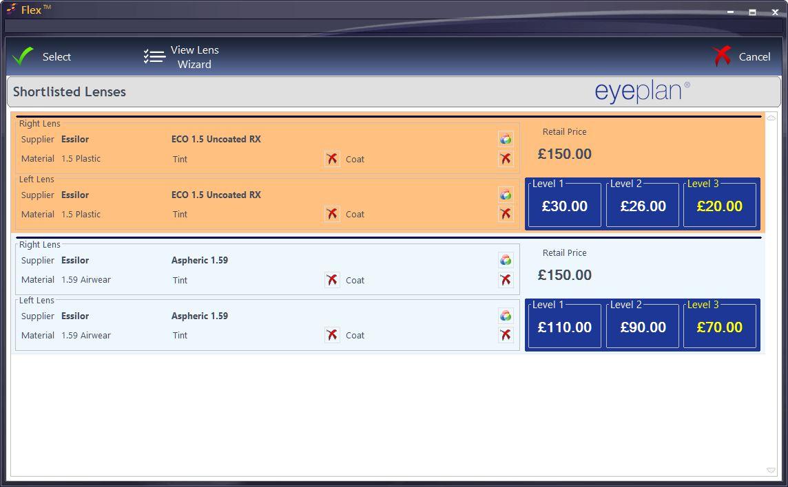 Eyeplan Management   FLEX Optician's Software by Optinet